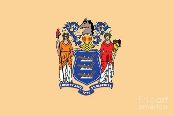 Painting - New Jersey State Flag by American School