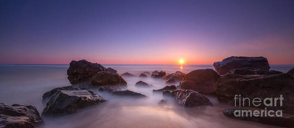 Wall Art - Photograph - New Jersey Sunrise At Sea Girt by Michael Ver Sprill