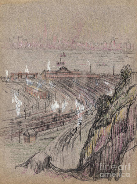 Drawing - New Jersey, Weehawken.  by Granger