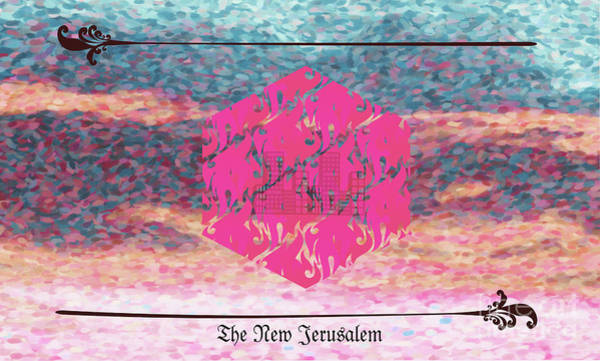 Digital Art - New Jerusalem Fuchsia by Donna L Munro