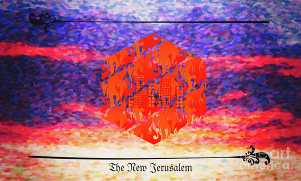 Digital Art - New Jerusalem Red by Donna L Munro