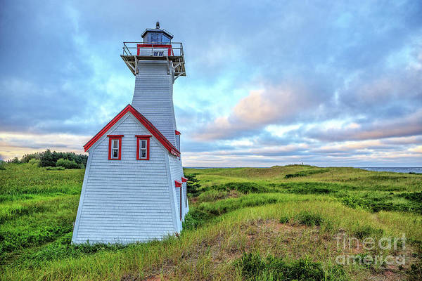 Keeper Photograph - New London Light At Sunset Prince Edward Island by Edward Fielding