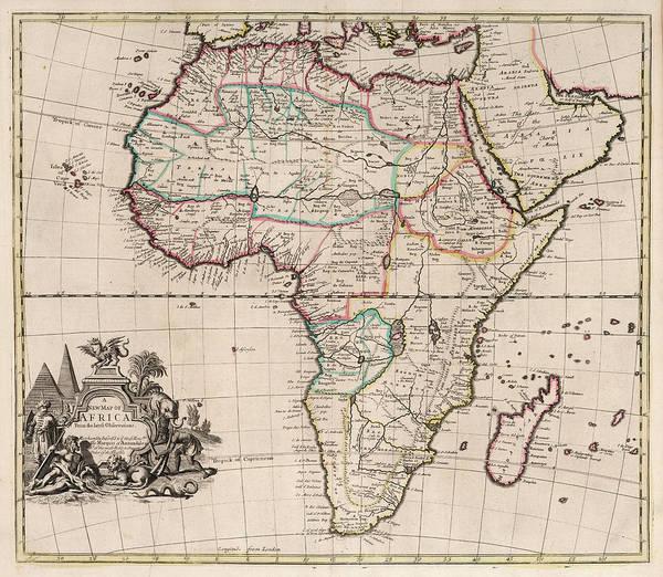 Wall Art - Painting - New Map Of Africa by John Senex