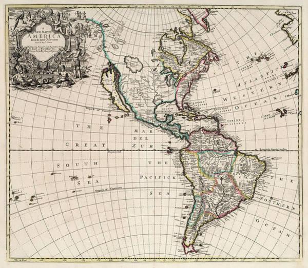 Wall Art - Painting - New Map Of America by John Senex