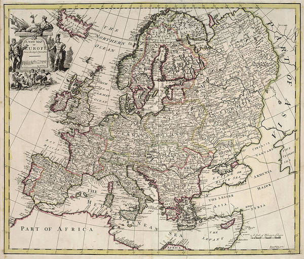 Wall Art - Painting - New Map Of Europe by John Senex