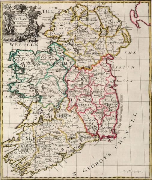Wall Art - Painting - New Map Of Ireland by John Senex