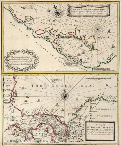 Wall Art - Painting - New Map Of Isthmus Of Darien by John Senex