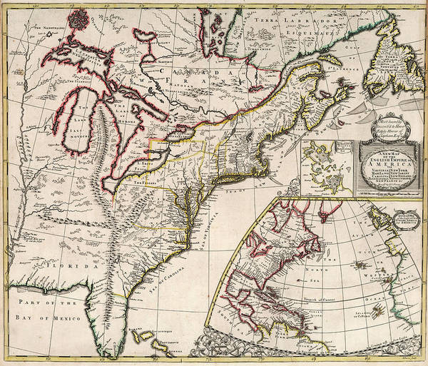 Wall Art - Painting - New Map Of The English Empire In America by John Senex
