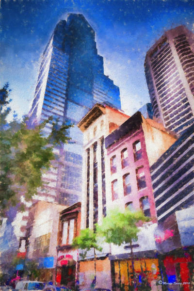 City Scape Photograph - New Meets Old by Marvin Spates