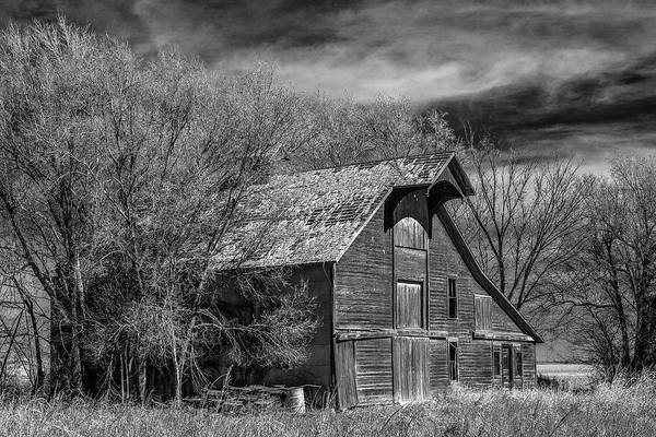 Wall Art - Photograph - New Mexico Barn In Bw by Paul Freidlund