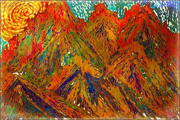 Spring Mountains Mixed Media - New Mexico Mountain Landscape by Barbara Chichester