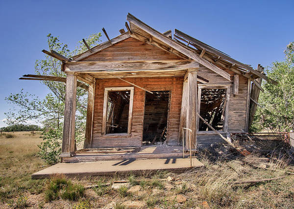 Condemned Wall Art - Photograph - New Mexico Real Estate by Jim Hughes