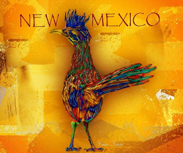 Roadrunner Painting - New Mexico Roadrunner by Barbara Chichester