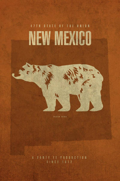 Wall Art - Mixed Media - New Mexico State Facts Minimalist Movie Poster Art by Design Turnpike