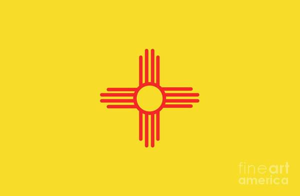Painting - New Mexico State Flag by American School