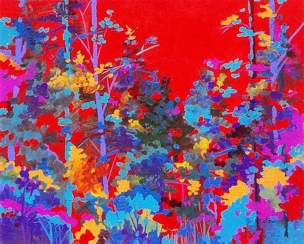 Painting - New Mexico Woods by Adele Bower
