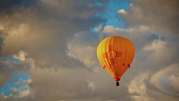 Photograph - New Mexico Zia Sun Hot Air Balloon by Flying Z Photography by Zayne Diamond