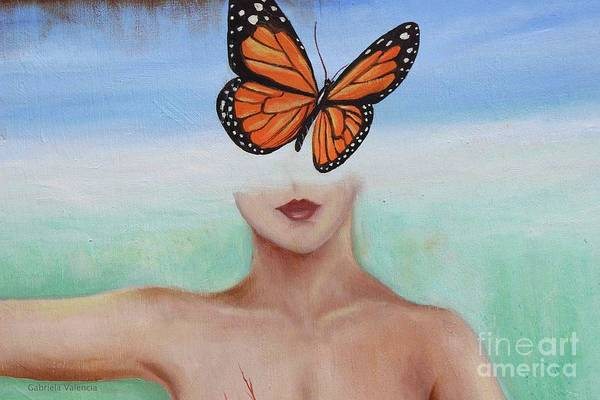Monarch Butterfly Wall Art - Painting - New Mind by Gabriela Valencia