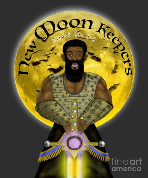 Painting - New Moon Keepers by Robert Watson