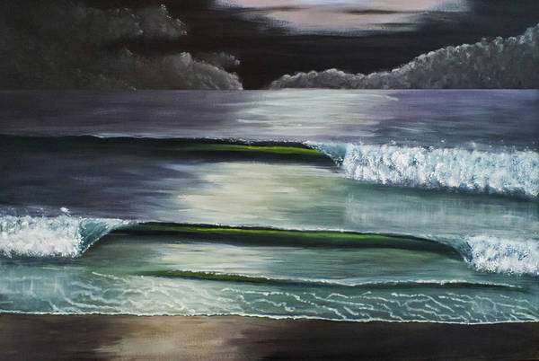 Painting - New Moon Over Cancun by Davend Dominick