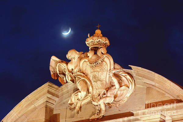 Photograph - New Moon Over The Puerta De Alcala Madrid by James Brunker