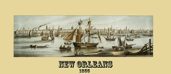 Photograph - New Orleans 1855 by Andrew Fare