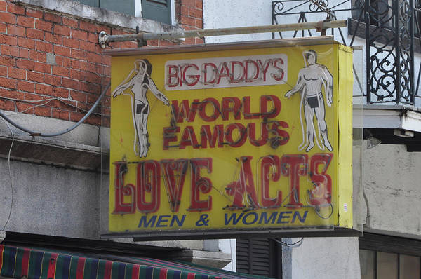 Wall Art - Photograph - New Orleans - Big Daddys Sign by Bill Cannon