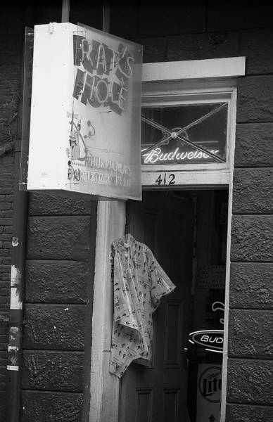 Photograph - New Orleans - Bourbon Street 12 Bw by Frank Romeo