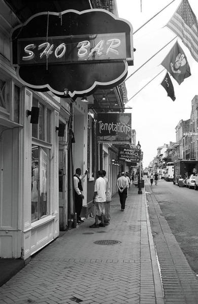 Photograph - New Orleans Bourbon Street 40 Bw by Frank Romeo