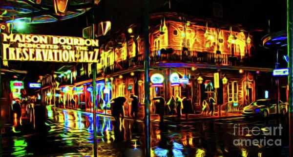 Wall Art - Photograph - New Orleans Bourbon Street by Jerome Stumphauzer