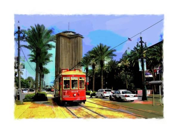 Digital Art - New Orleans Canal St Car 04 by Eduardo Tavares