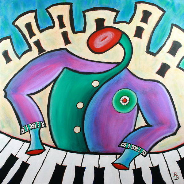 Painting - New Orleans Cool Jazz Piano by Bob Baker