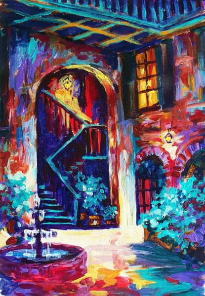 Wall Art - Painting - New Orleans Courtyard by Saundra Bolen Samuel