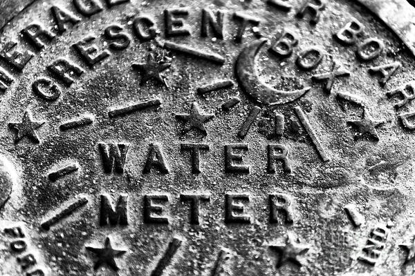 Wall Art - Photograph - New Orleans Crescent Box Water Meter by John Rizzuto