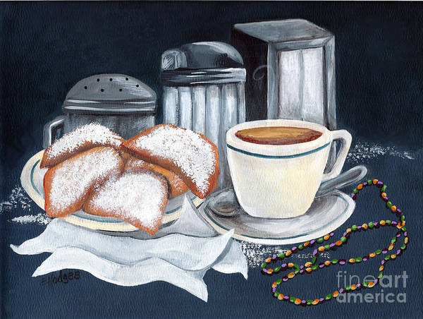 Doughnut Painting - New Orleans Favorites by Elaine Hodges