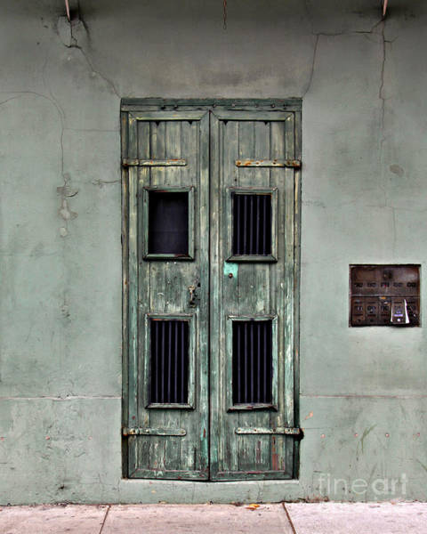 Wall Art - Photograph - New Orleans Green Doors by Perry Webster