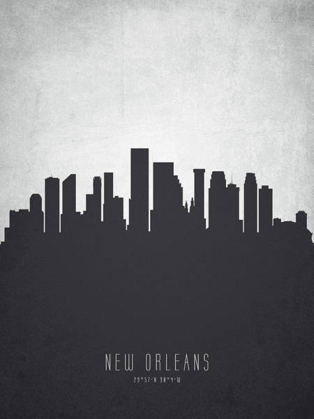 Wall Art - Painting - New Orleans Louisiana Cityscape 19 by Aged Pixel