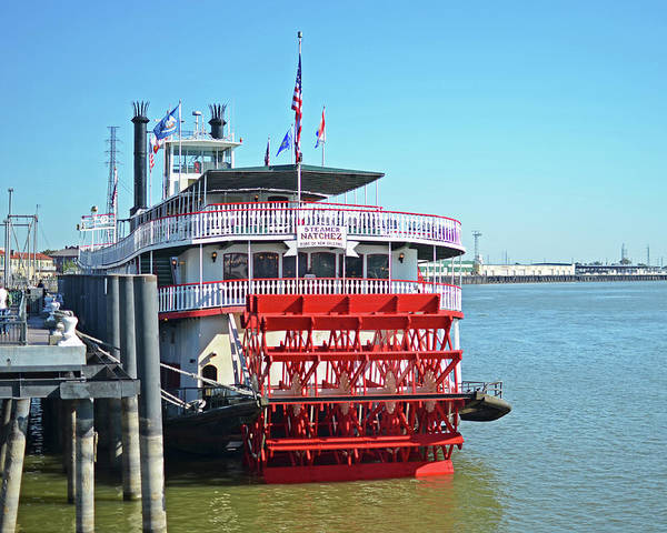 Photograph - New Orleans Mississippi River Natchez Steam Boat Louisiana by Toby McGuire