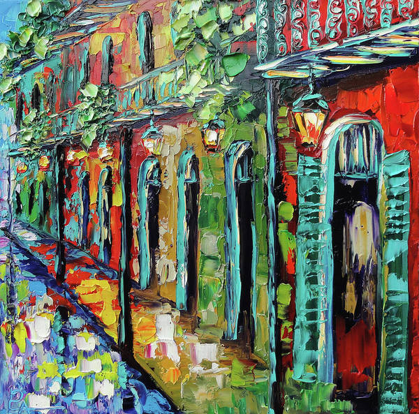 French Quarter Painting - New Orleans Painting - Glowing Lanterns by Beata Sasik