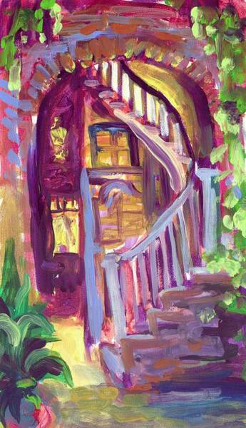 Wall Art - Painting - New Orleans Patio by Saundra Bolen Samuel