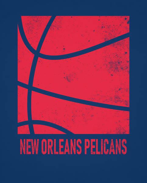 Pelican Mixed Media - New Orleans Pelicans City Poster Art 2 by Joe Hamilton