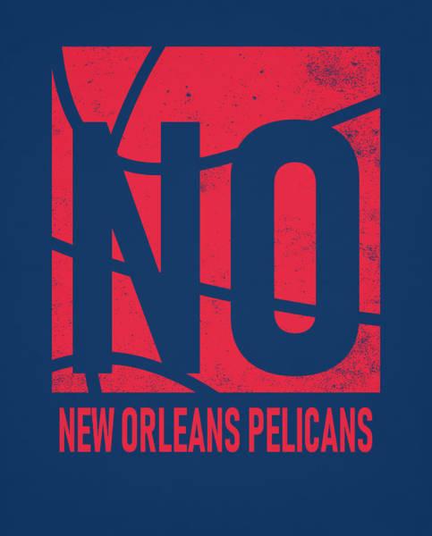 Pelican Mixed Media - New Orleans Pelicans City Poster Art by Joe Hamilton