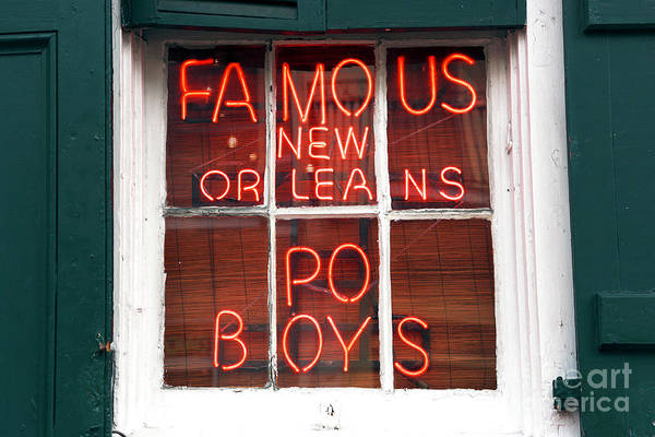 New Orleans Po Boys Art Print