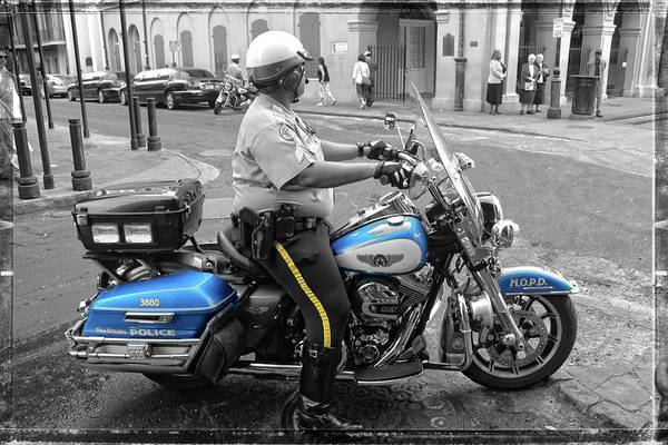 Photograph - New Orleans Police by Carlos Diaz