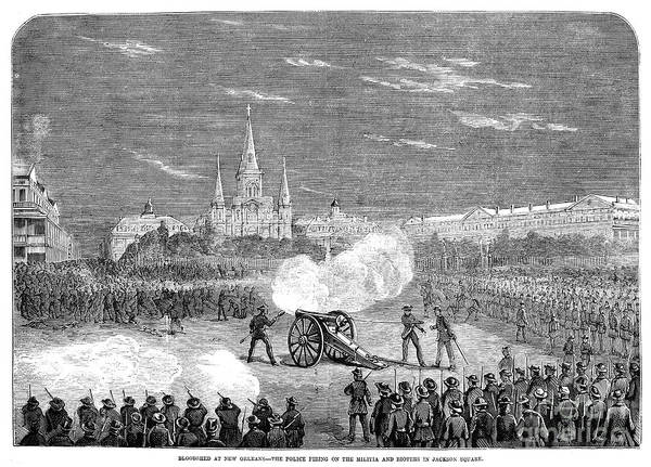 Militiaman Photograph - New Orleans: Riot, 1873 by Granger