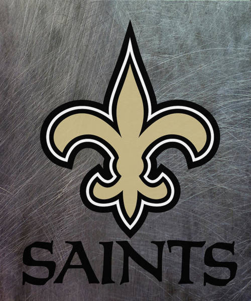 Mixed Media - New Orleans Saints On An Abraded Steel Texture by Movie Poster Prints