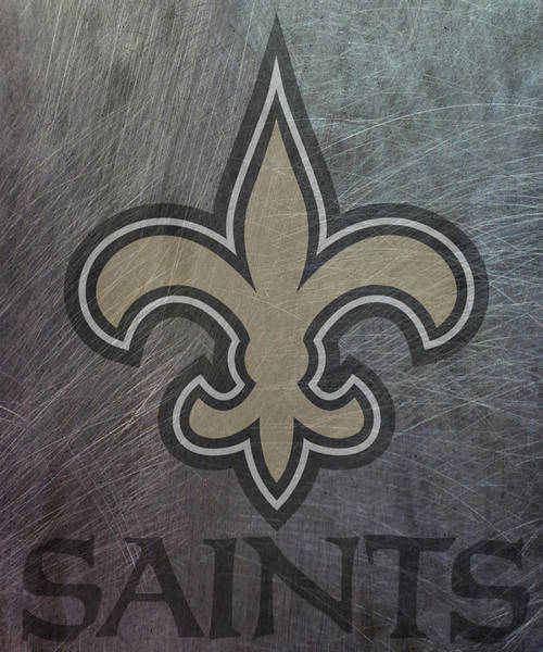 Mixed Media - New Orleans Saints Translucent Steel by Movie Poster Prints