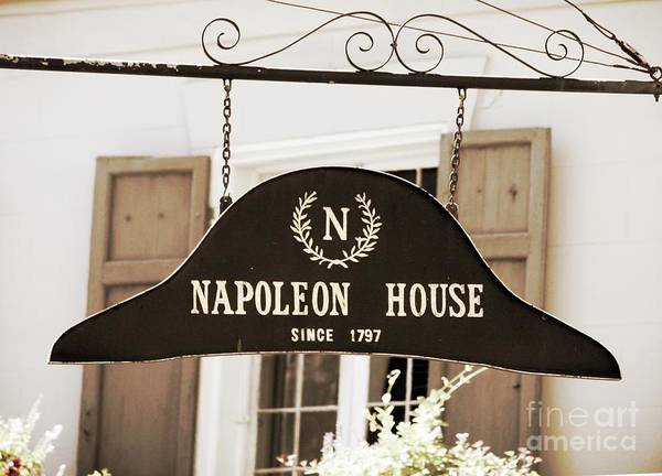 Wall Art - Photograph - New Orleans Sign - Napoleon House - Sepia by Carol Groenen