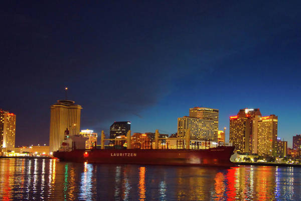 Wall Art - Photograph -  New Orleans Skyline At Night  by Art Spectrum