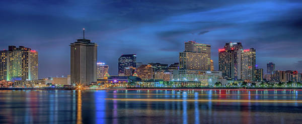 Photograph - New Orleans Skyline At Night by Susan Rissi Tregoning